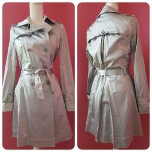 Rampage Silver Trench Coat